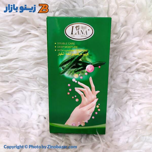 کرم مرطوب کننده پوست دست خیار معطر لانا - زینو بازار ZinoBazar