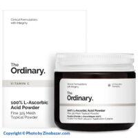 پودر ویتامین سی (ال اسکوربیک اسید) ضد لک، روشن کننده، جوانساز اوردینری - زینو بازار ZinoBazar