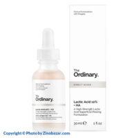 سرم لاکتیک اسید 10% لایه بردار متوسط و جوانساز و روشن کننده اوردینری - زینو بازار ZinoBazar