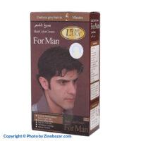 رنگ موی قهوه ای تیره و اکسیدان مردانه لانا - زینو بازار ZinoBazar