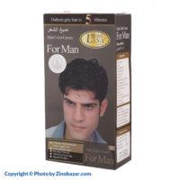 رنگ موی مشکی و اکسیدان مردانه لانا - زینو بازار ZinoBazar