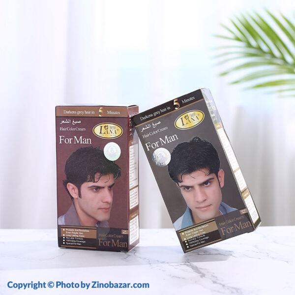 رنگ موی مشکی و قهوه ای مردانه لانا
