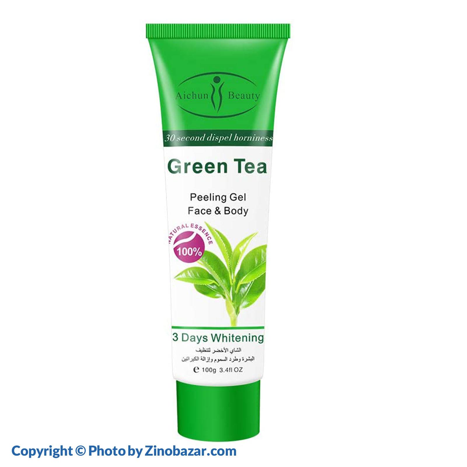 ژل لایه بردار و پاکسازی عصاره چای سبز آیشون بیوتی - زینو بازار ZinoBazar