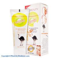 کرم ضد آفتاب شتر مرغ SPF60 هدی بیوتی - زینو بازار ZinoBazar