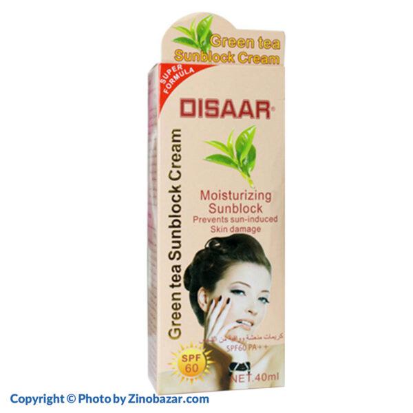 کرم ضد آفتاب چای سبز SPF60 دیسار - زینو بازار ZinoBazar